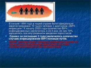 В начале 1999 года в нашей стране было официально зарегистрировано 10 тысяч