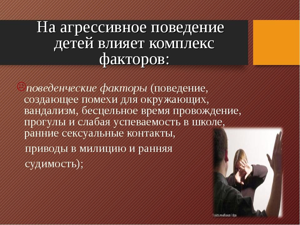 На агрессивное поведение детей влияет комплекс факторов: поведенческие факто...