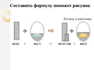 Составить формулу поможет рисунок Fe2+ Cu2+