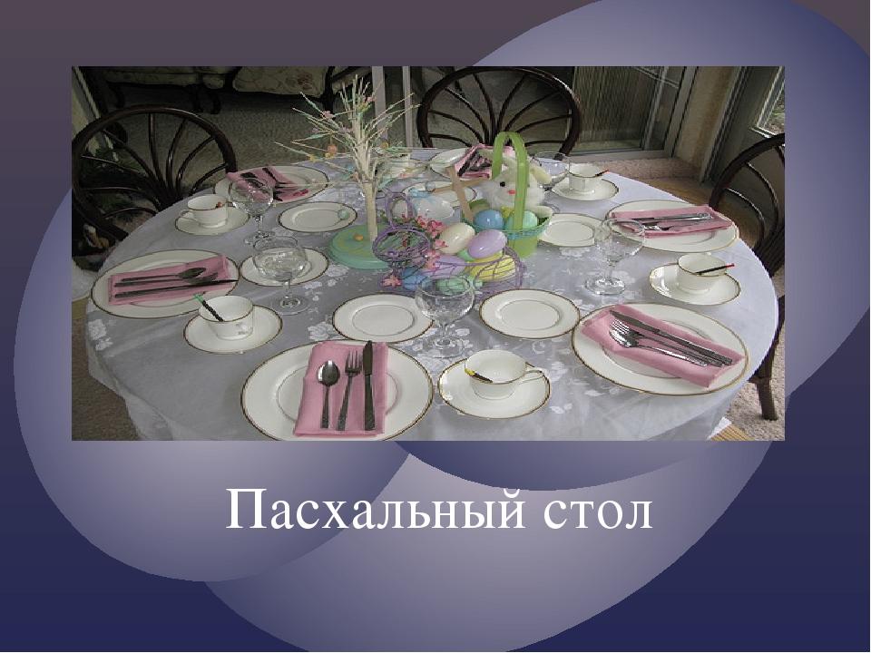 Пасхальный стол