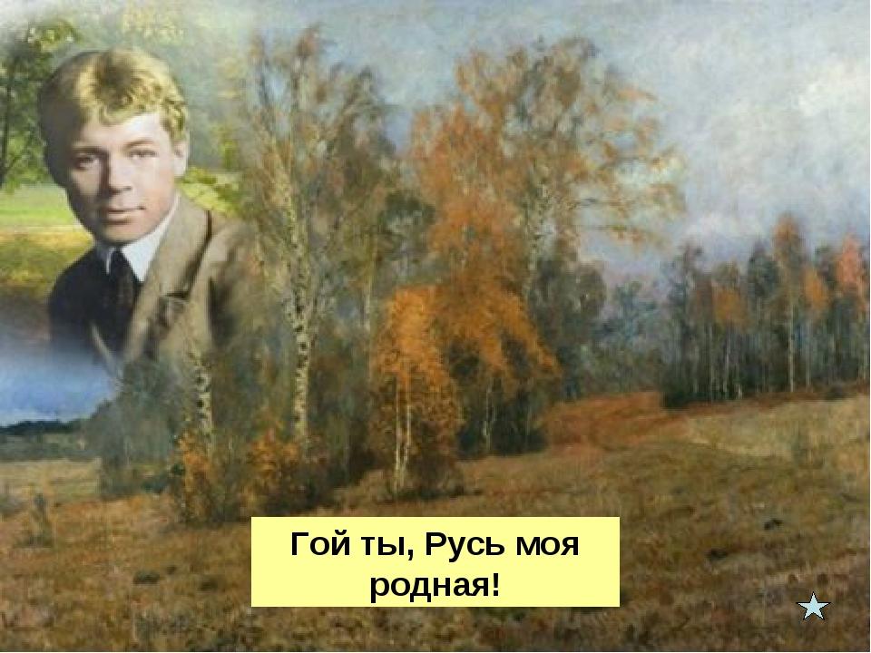 Гой ты, Русь моя родная!