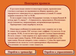 Повторим правило Перейти к тренажёру Перейти к упражнениям В русском языке им
