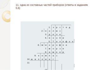 11. одна из составных частей приборов (ответы в заданиях 5,6) 1. э р с т е д