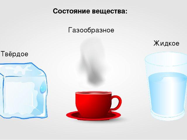 Состояние вещества: Твёрдое Жидкое Газообразное