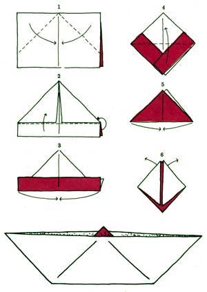 Как сделать из бумаги катер из бумаги