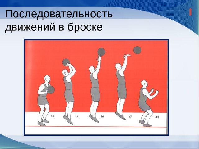 Переместить мяч перед лицом до его выпуска; Игрок должен держать туловище ве...