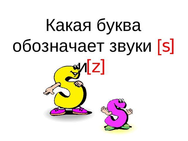 Какая буква обозначает звуки [s] и[z]