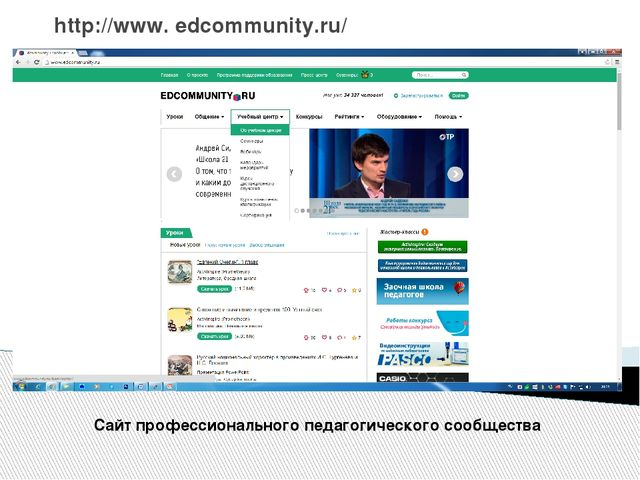 http://www. edcommunity.ru/ Сайт профессионального педагогического сообщества