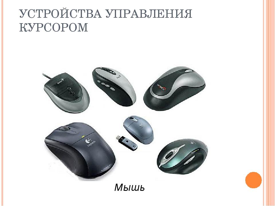 УСТРОЙСТВА УПРАВЛЕНИЯ КУРСОРОМ Мышь