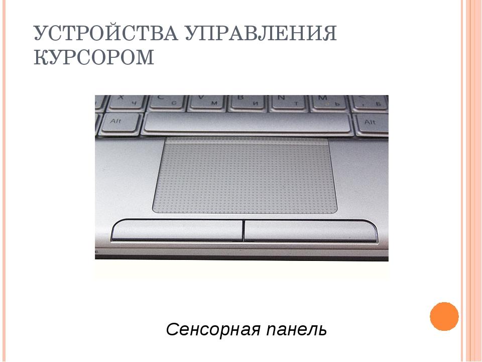 УСТРОЙСТВА УПРАВЛЕНИЯ КУРСОРОМ Сенсорная панель