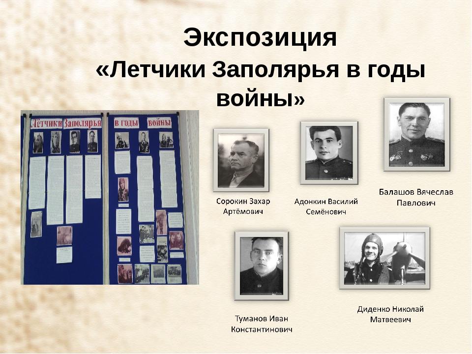 Экспозиция «Летчики Заполярья в годы войны»