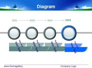 www.themegallery.com Company Logo Diagram Your Text Your Text Your Text Your
