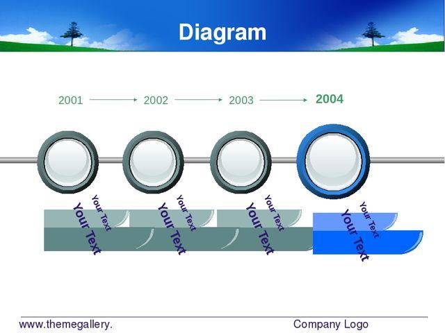 www.themegallery.com Company Logo Diagram Your Text Your Text Your Text Your...