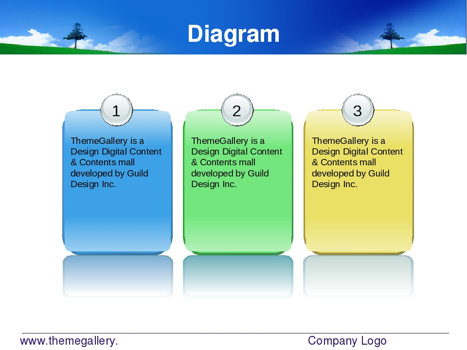 www.themegallery.com Company Logo Diagram 1 ThemeGallery is a Design Digital...