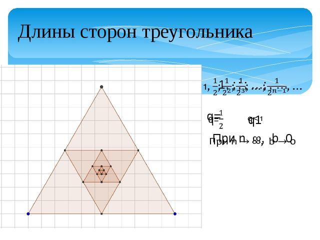 Длины сторон треугольника