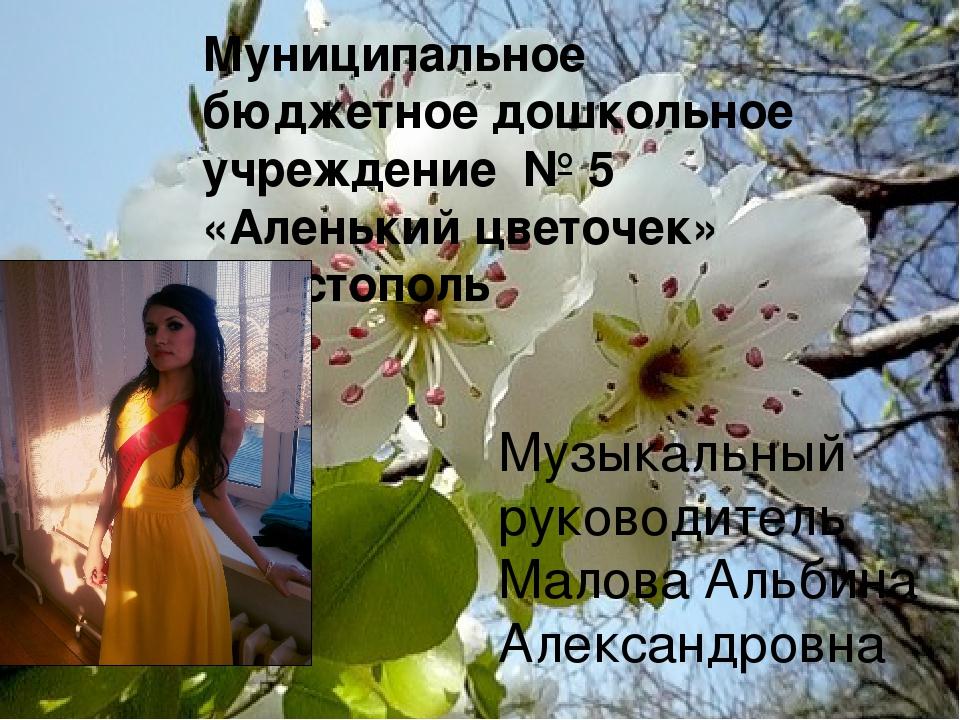 Муниципальное бюджетное дошкольное учреждение № 5 «Аленький цветочек» г.Чист...