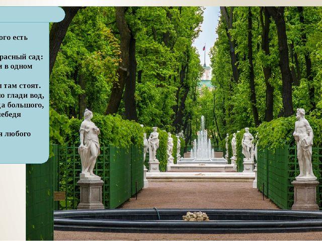 На свете много есть чудес. Но вот прекрасный сад: С деревьями в одном ряду Ск...