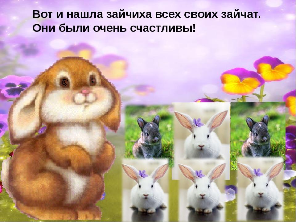 Вот и нашла зайчиха всех своих зайчат. Они были очень счастливы!
