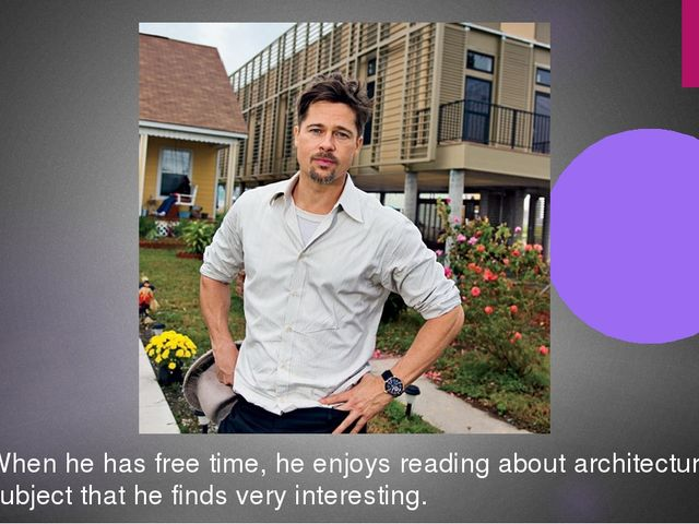 When he has free time, he enjoys reading about architecture, a subject that h...