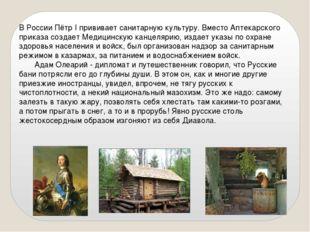 В России Пётр I прививает санитарную культуру. Вместо Аптекарского приказа со