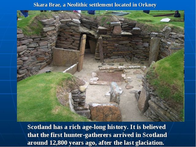 Skara Brae, a Neolithic settlement located in Orkney Scotland has a rich age-...