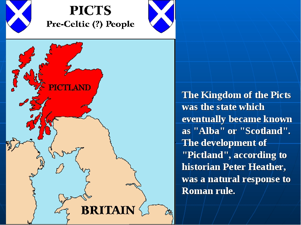"The Kingdom of the Picts was the state which eventually became known as ""Alba..."
