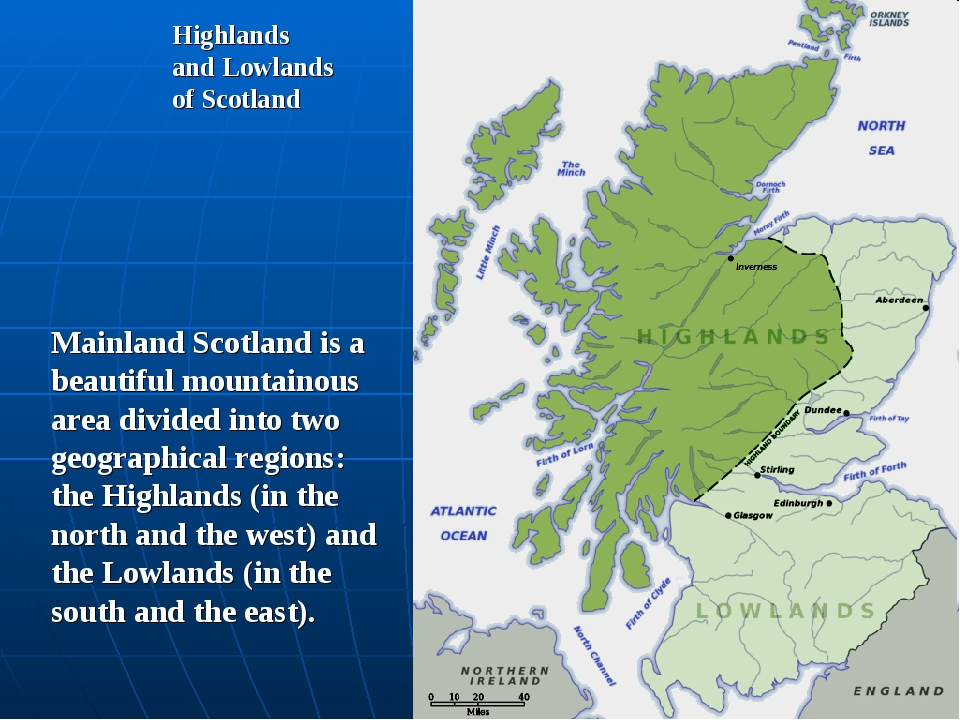 Highlands and Lowlands of Scotland Mainland Scotland is a beautiful mountaino...