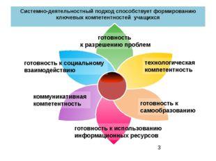 Системно-деятельностный подход способствует формированию ключевых компетентно