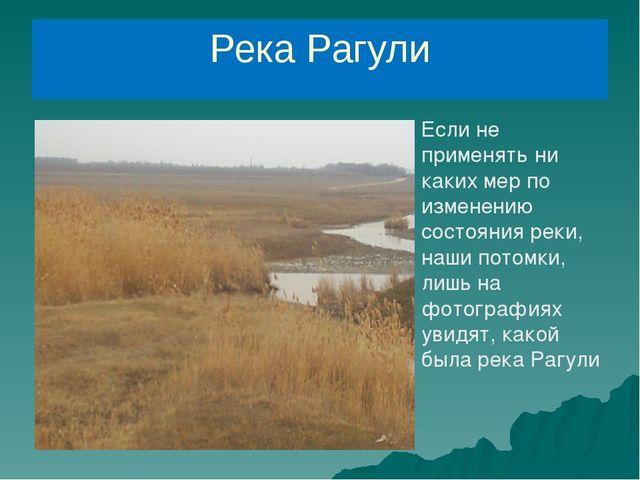 Река Рагули Если не применять ни каких мер по изменению состояния реки, наши...