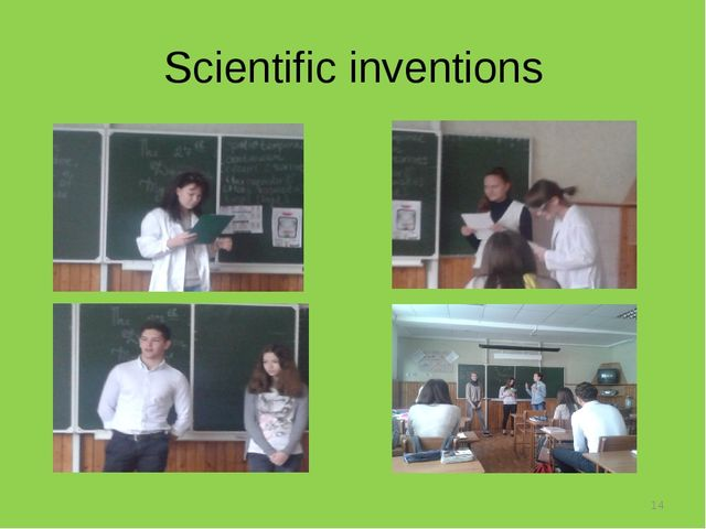 Scientific inventions *