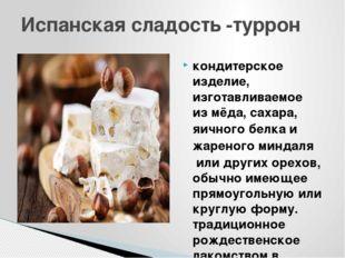 кондитерское изделие, изготавливаемое измёда,сахара,яичного белкаи жарено
