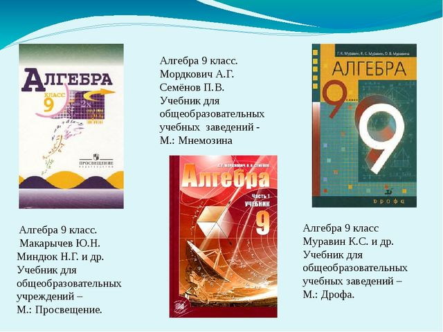 Алгебра 9 класс. Макарычев Ю.Н. Миндюк Н.Г. и др. Учебник для общеобразовате...