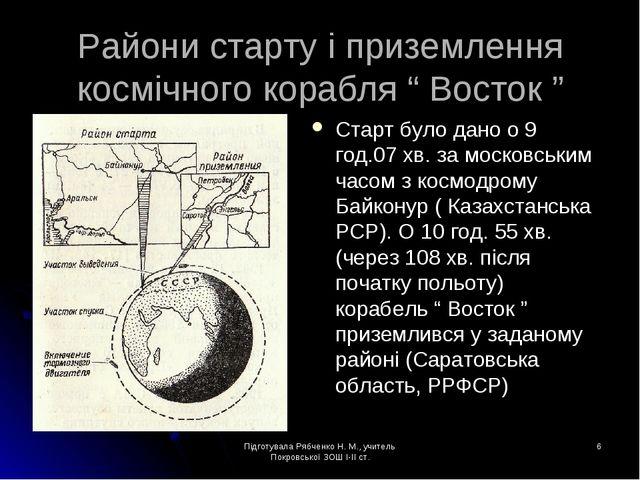 Підготувала Рябченко Н. М., учитель Покровської ЗОШ І-ІІ ст. * Райони старту...