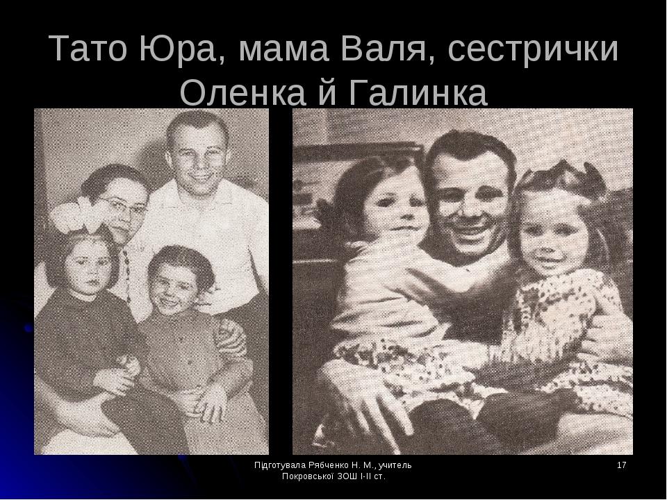 Підготувала Рябченко Н. М., учитель Покровської ЗОШ І-ІІ ст. * Тато Юра, мама...