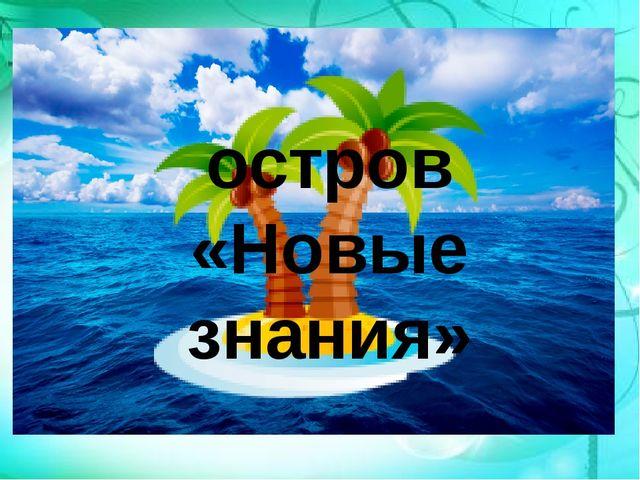 остров «Новые знания»