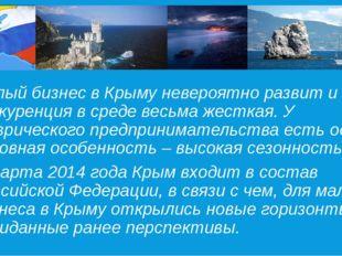 Малый бизнес в Крыму невероятно развит и конкуренция в среде весьма жесткая.