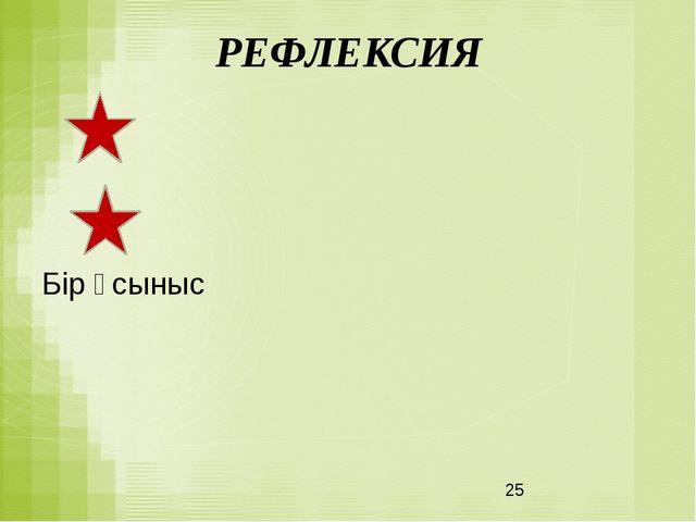 РЕФЛЕКСИЯ Бір үсыныс