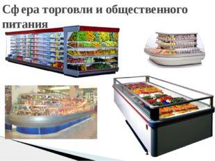 Сфера торговли и общественного питания