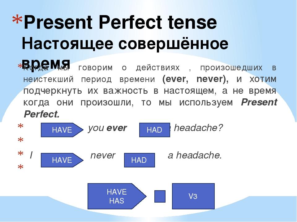 Present Perfect tense Настоящее совершённое время Когда мы говорим о действия...