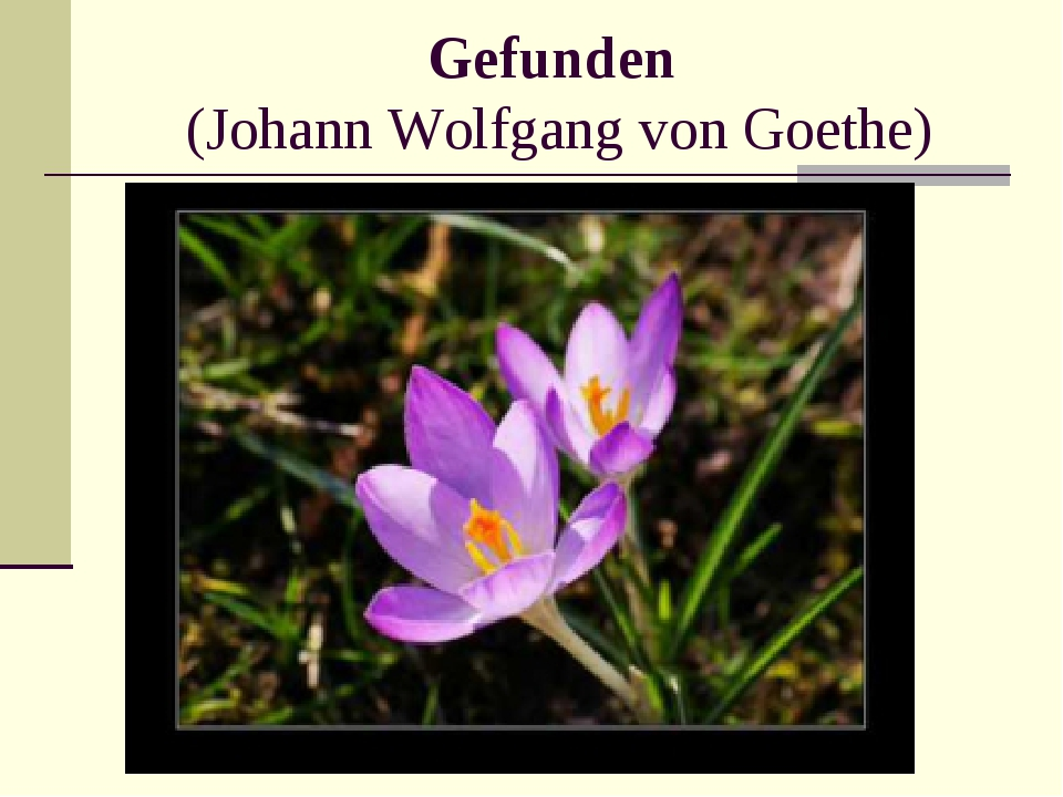 Gefunden (Johann Wolfgang von Goethe)