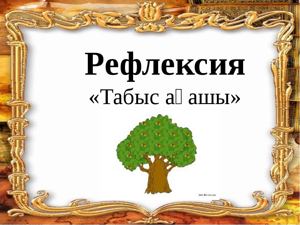 Рефлексия «Табыс ағашы»