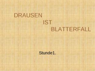 DRAUSEN IST BLATTERFALL Stunde1.