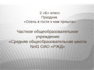 Частное общеобразовательное учреждение «Средняя общеобразовательная школа №41