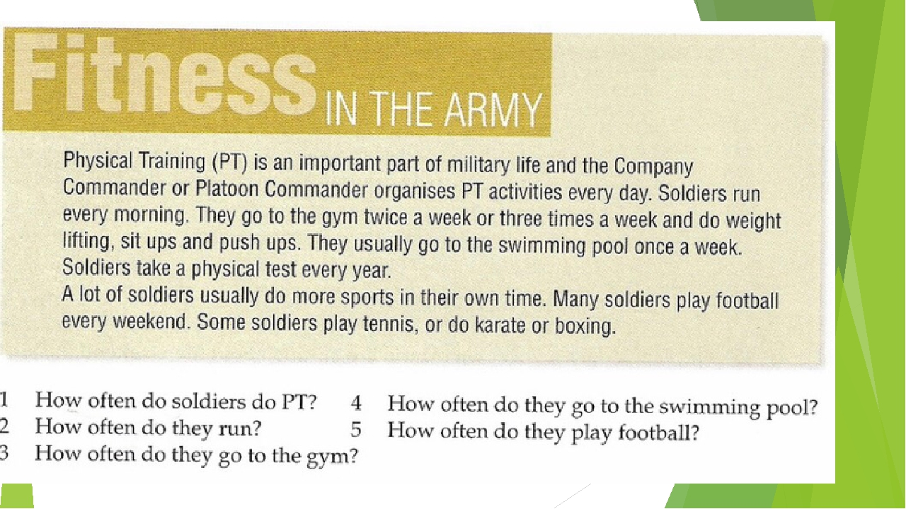 army physical training importance