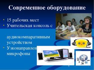 Современное оборудование 15 рабочих мест Учительская консоль с аудиокомпарати