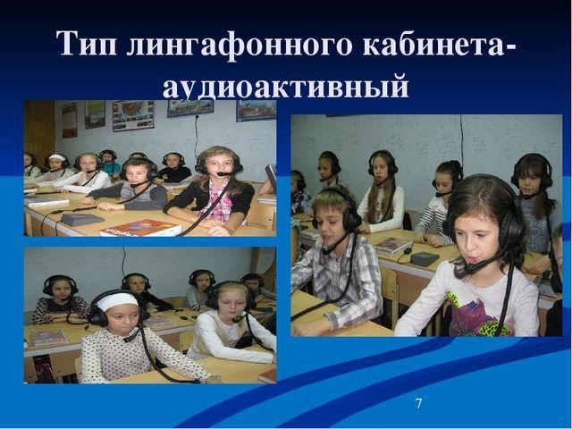 Тип лингафонного кабинета- аудиоактивный