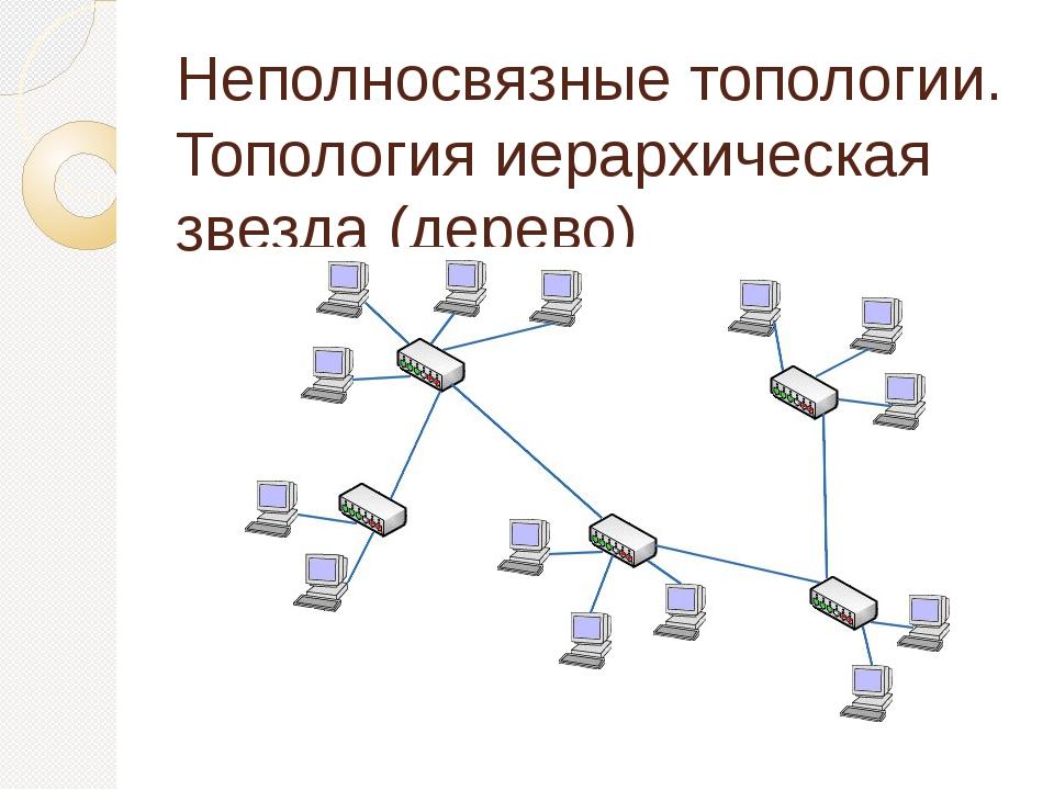Неполносвязные топологии. Топология иерархическая звезда (дерево)
