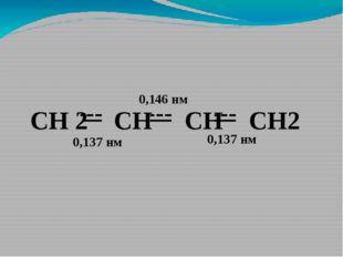 СН 2 СН CH CH2 0,137 нм 0,137 нм 0,146 нм
