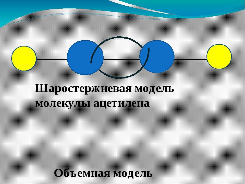 Шаростержневая модель молекулы ацетилена Объемная модель