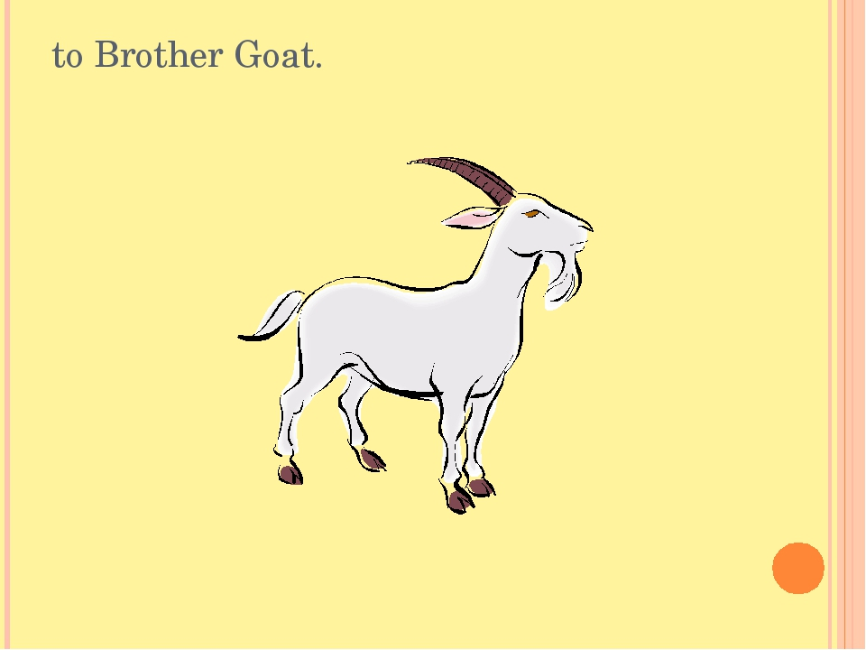 to Brother Goat.